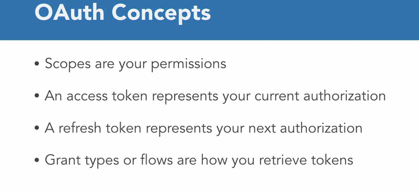 OAuth2 Concepts